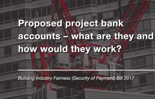Proposed project bank accounts – what are they and how would they work?
