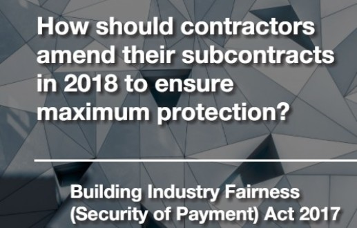 How should contractors amend their subcontracts in 2018 to ensure maximum protection?
