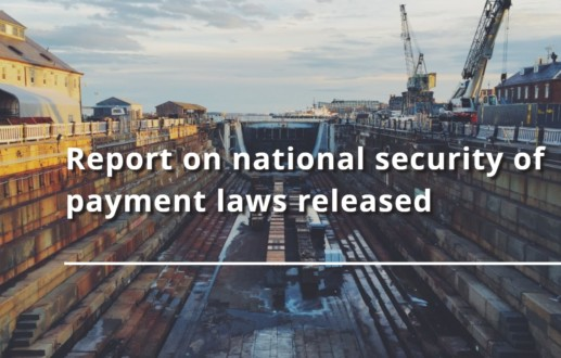 Report on national security of payment laws released