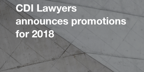 CDI Lawyers announces promotions for 2018