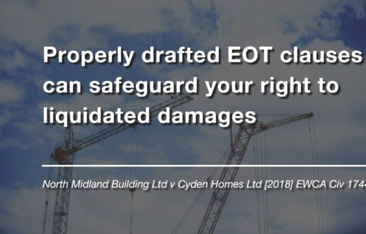 Properly drafted EOT clauses can safeguard your right to liquidated damages