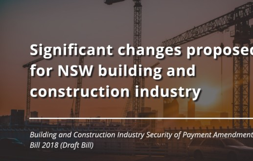 Significant changes proposed for NSW building and construction industry