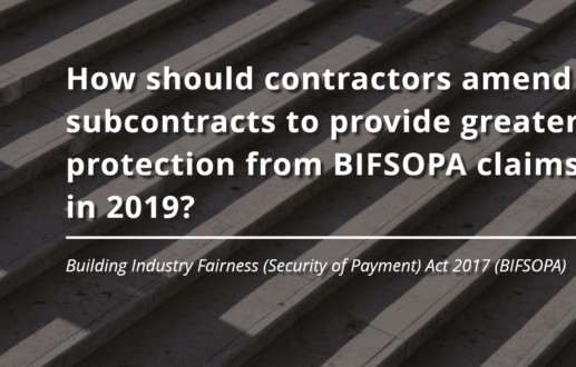 How should contractors amend subcontracts to provide greater protection from BIFSOPA claims in 2019?