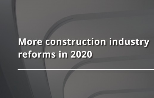 More construction industry reforms in 2020