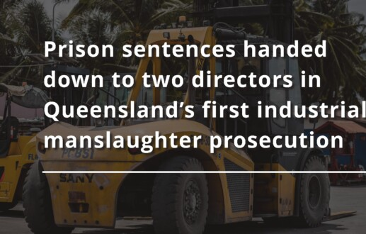 Prison sentences handed down to two directors in Queensland's first industrial manslaughter prosecution